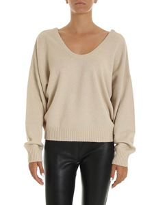 See by Chloé - Wide neckline pullover in beige