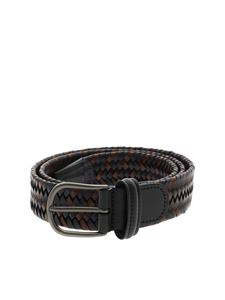 Anderson's - Braided belt in blue and leather color