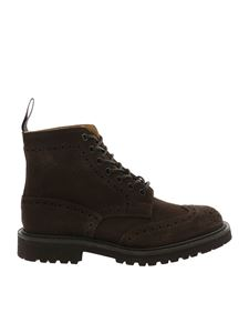 Tricker's - Brown ankle boots with stitching