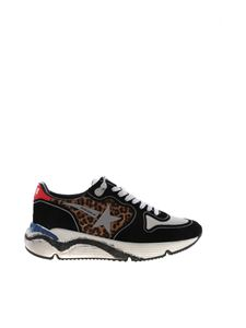Golden Goose Deluxe Brand - Running sneakers in black and animalier print