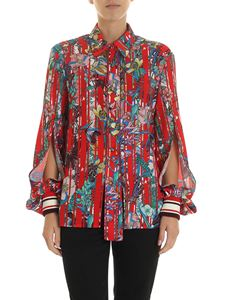 Golden Goose Deluxe Brand - Isako shirt in red with floral print