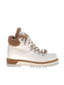Le Silla - St Moritz ankle boots in white and beige