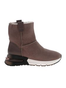 Ash - Kyoto ankle boots in dove grey color