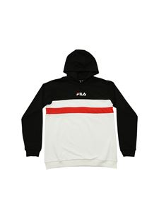 Fila - Hoodie in black white and red