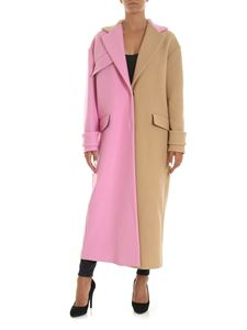 MSGM - Beige and pink two-tone coat