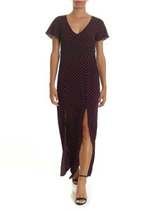 Michael Kors - Black dress with purple polka dots print