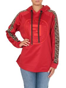 Fendi - Red hoodie with FF details