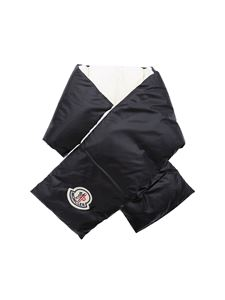 Moncler - Black and white padded scarf