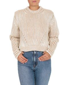 Chloé - Knitted sweater in muddy beige color