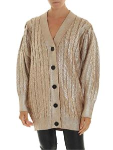 MSGM - Golden cardigan with braided pattern