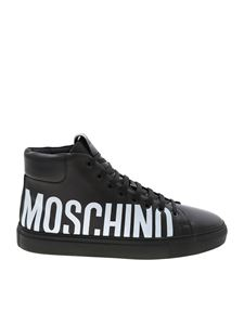 Moschino - Sneakers in black with logo print