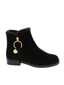 See by Chloé - Vasiano suede boots in black