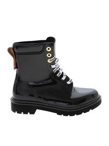 See by Chloé - Glossy-effect boots in black