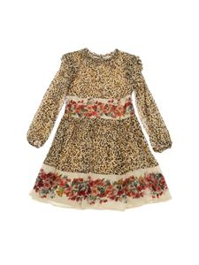 Twin-Set - Animal print dress in beige color