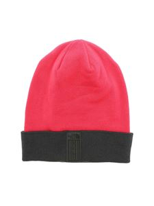The North Face - Fuchsia beanie with contrasting turned up