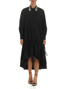 Vivetta - Embroidered collar dress in black