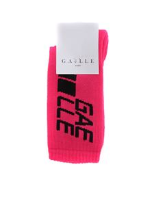 Gaelle Paris - Neon pink socks with logo