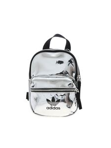 Adidas Originals - Mini backpack in silver with black logo