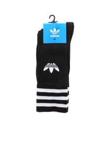 Adidas - Adidas Originals 3 socks pairs in black with logo