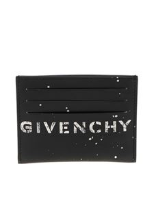 Givenchy - Black card holder with spots of color