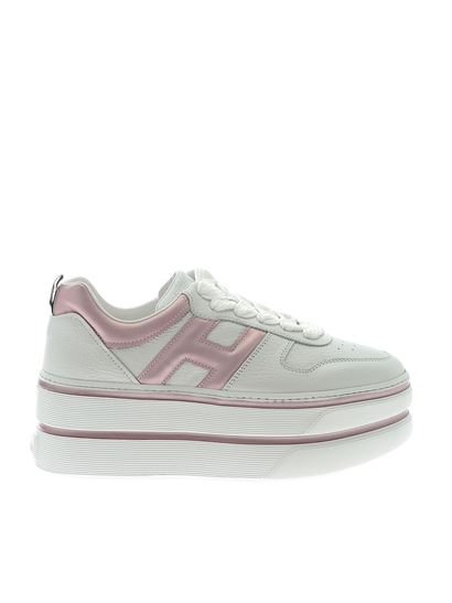 Hogan Fall Winter 19/20 h449 sneakers in white and pink ...