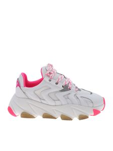 Ash - Extreme sneakers in white and fuchsia