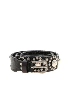Golden Goose Deluxe Brand - Black belt with silver studs