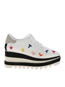 Stella McCartney - Elyse white sneakers with logo embroidery