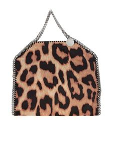 Stella McCartney - Small Tote bag with beige animal print