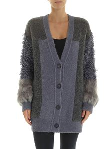 Stella McCartney - Grey cardigan patchwork effect