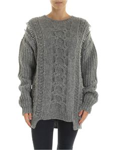 Stella McCartney - Grey pullover with embossed knitting