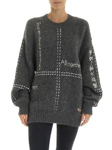 Stella McCartney - Dark grey pullover with white details