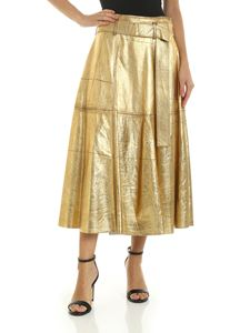 Golden Goose Deluxe Brand - Skirt with belt in gold color