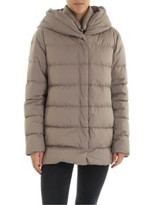 Herno - Down jacket in  dove grey color with hood