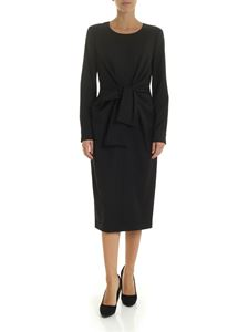 Max Mara - Chiffon dress in black