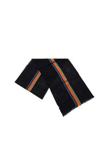 Paul Smith - Central Stripe scarf in blue