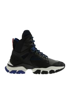 Moncler - Tristan sneakers in black and blue