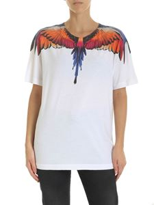 Marcelo Burlon - Pink Wings T-shirt in white