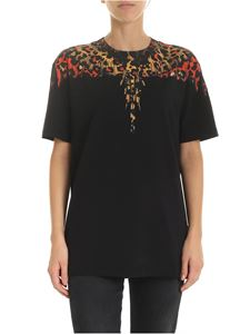 Marcelo Burlon - Leopard wings T-shirt in black