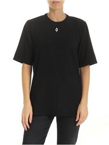 Marcelo Burlon - T-shirt with logo embroidery in black