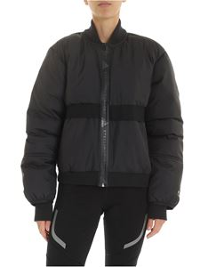 Adidas by Stella McCartney - Padded Bomber down jacket in black