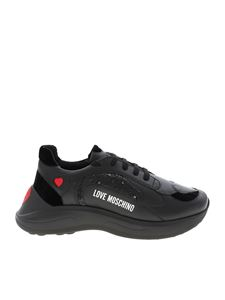 Love Moschino - Black sneakers with logo print