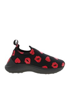 Love Moschino - Black sneakers with red details