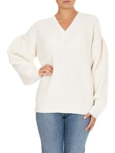 MSGM - Knit sweater in white