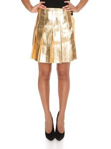 MSGM - Pleated skirt in gold color