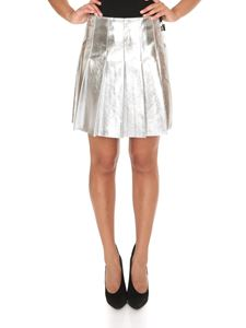 MSGM - Pleated skirt in silver color