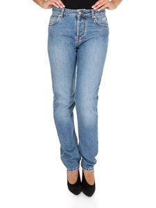 MSGM - Heart printed jeans in blue