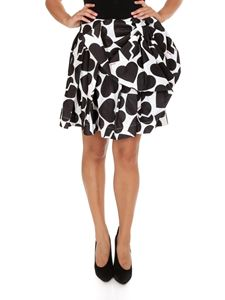 MSGM - Heart printed skirt with bow detail