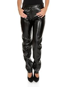MSGM - Black eco-leather trousers