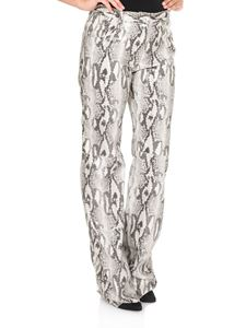 MSGM - Animal printed eco-leather trousers